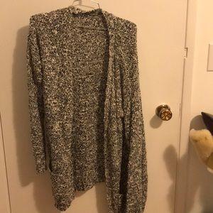 Grey/black/white chunky cardigan